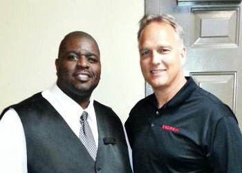 Driver Terrell and Coach Mark Richt