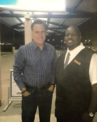 Driver Terrell and Mitt Romney